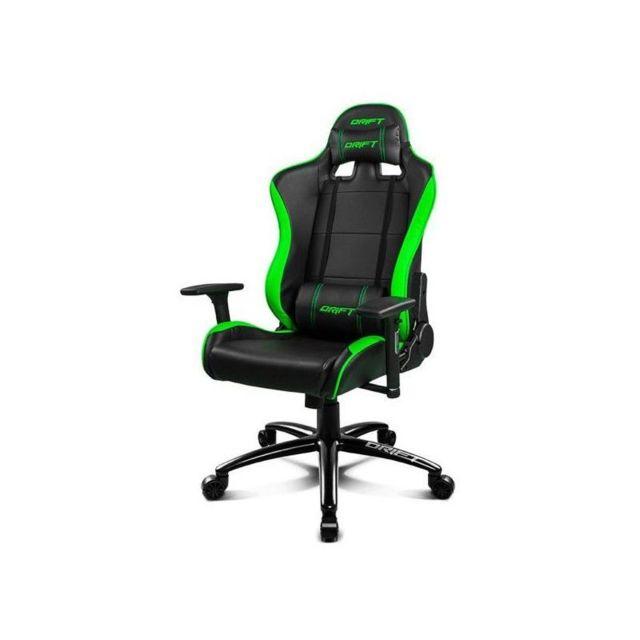 drift chaise de jeu dr200bg 90 160 mousse pu noir vert pas cher achat vente si ge gamer. Black Bedroom Furniture Sets. Home Design Ideas