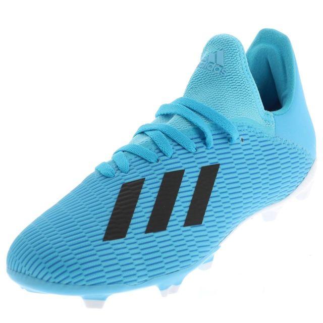 Chaussures Football Crampons Lamelles Enfant Adidas Predator 19.3 bleu jr fg