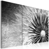 bimago tableau pissenlit noir et blanc