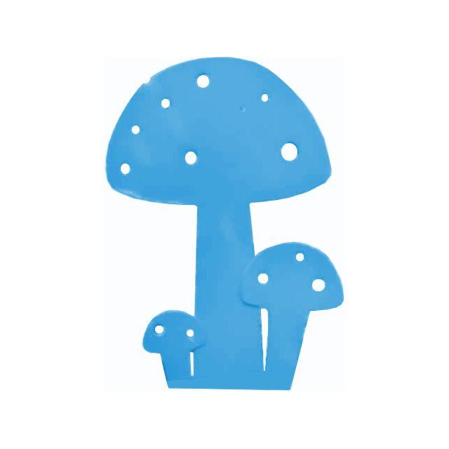 IKI Champignon à planter Bleu en Métal 15cm