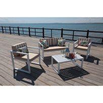 Hevea Jardin - Ensemble table et chaises de jardin aluminium parma - 7 places