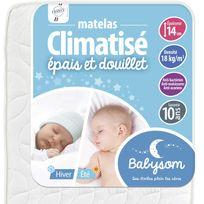 Babysom - Matelas bébé Climatisé Eté/Hiver 60 x 120x14 60 x 120x14