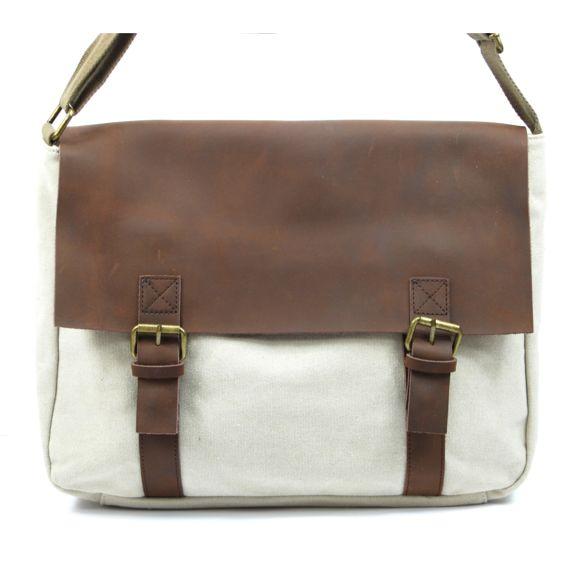 3285868024 Oh My Bag - Sacoche cuir et toile Cancun - pas cher Achat / Vente ...