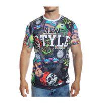 Mode Labs - Mh Studio - T-shirt New Style imprimé manches courtes