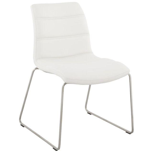 Alterego Chaise confortable 'WAW' en matière synthétique