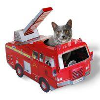 Suck Uk - Maison de Jeu en Carton pour Chat - Camion de Pompier