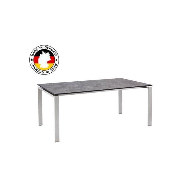 Kettler - Table de jardin Hpl béton brossé - pas cher Achat ...
