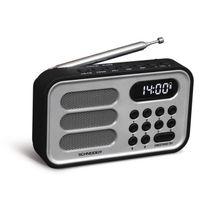 Schneider - Sc150ACLSIL Radio Portable Handy Mini - Argent