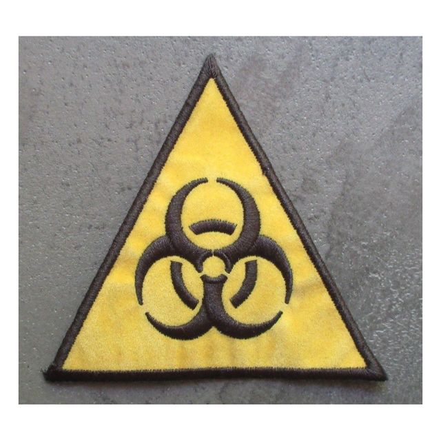 Universel Patch biohazard triangle jaune danger radiation ecusson rock