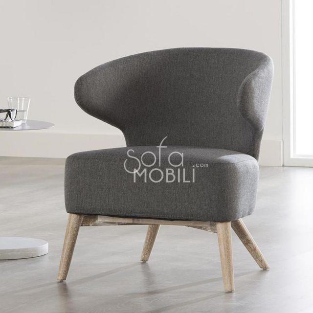 Sofamobili Fauteuil design anthracite Bilbo 3