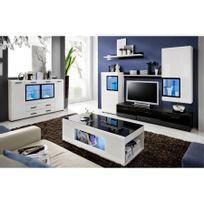 CHLOE DESIGN - Commode de salon design Mete - noir et blanc