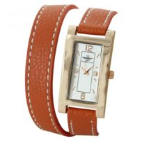 M.JOHN - Montre Femme couleur Orange Double-Bracelet M. John 1738