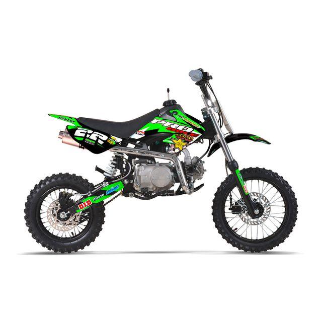 probike moto pit bike 110 semi automatique noir achat vente moto cross 110 pas cher. Black Bedroom Furniture Sets. Home Design Ideas