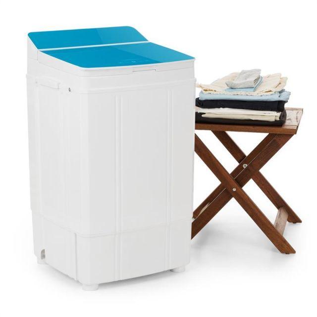 ONECONCEPT Ecowash Deluxe Machine à laver 290W 4kg Minuteur Fonction essorage - bleu