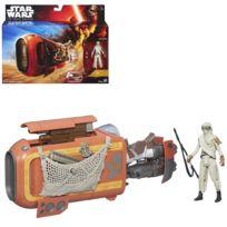 Hasbro - Véhicule miniature Star Wars avec personnage