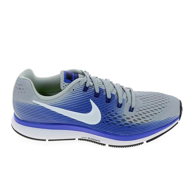 size 40 72d38 bac9d Nike - Air Zoom Pegasus 34 Gris Bleu - pas cher Achat   Vente Baskets homme  - RueDuCommerce