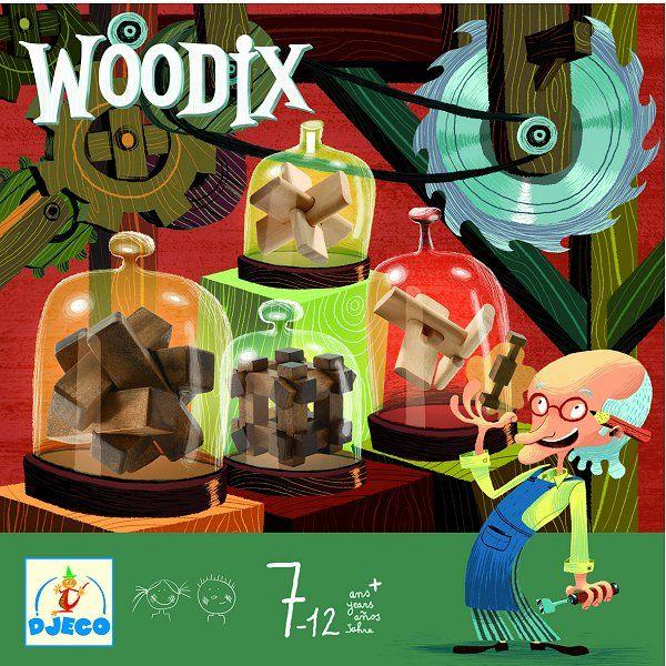 Djeco Casse-tête en bois : Ensemble de casse-tête Woodix