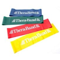 Thera Band - Bande élastique Thera-Band Loop couleur rouge résistance moyenne