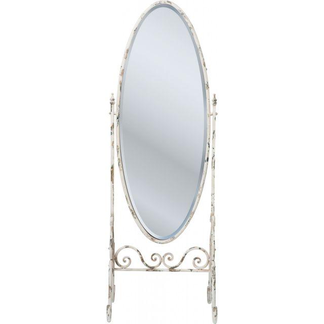 Soldes Karedesign - Miroir Sur Pied Romantico Blanc Kare Design Gris ...