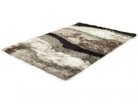 vente unique tapis shaggy ecume polyester 160x230cm gris pas cher achat vente tapis rueducommerce - Tapis Shaggy