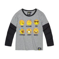 Smiley - Garcon Tee-shirt manches longues