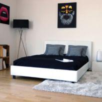 lit 140x190 avec sommier achat lit 140x190 avec sommier pas cher rue du commerce. Black Bedroom Furniture Sets. Home Design Ideas