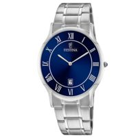 Montre En Bracelet Et Avec Fond Bleu Cadran Chrono Au Acier bfgvI7y6Y
