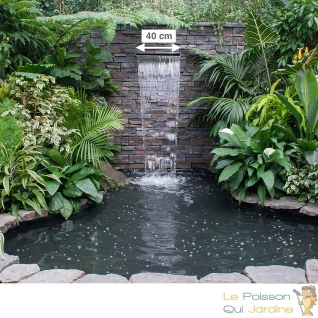 Le Poisson Qui Jardine Cascade - Lame D'Eau 40 cm Inox Pour Bassin De Jardin