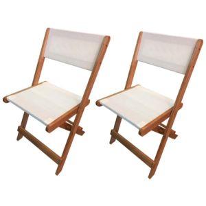 habitat et jardin chaise pliante en bois exotique seoul maple beige lot de 2 pas cher. Black Bedroom Furniture Sets. Home Design Ideas