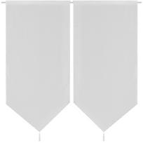 Rocambolesk - Superbe 2 Rideaux de cuisine en lin pastiche 60 x 160 cm Blanc neuf