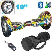 Hoverboard 10 pouces skate électrique Gyropode 36V Comics