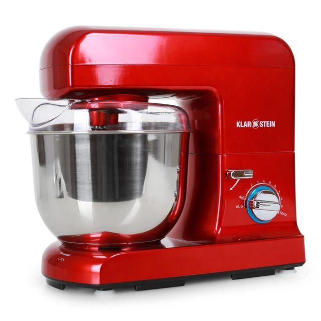 KLARSTEIN Gracia Rossa Robot de cuisine multifonction 1000W bol inox 5l -rouge