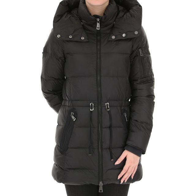 Manteau chevron a capuche femme
