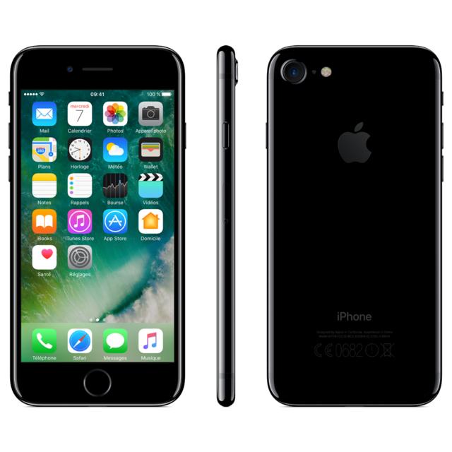 destockage apple iphone 7 128 go noir de jais. Black Bedroom Furniture Sets. Home Design Ideas