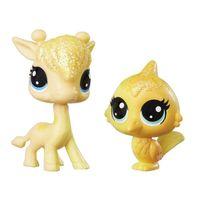 Littlest Petshop - Figurines Petshop Rainbow Meilleurs amis : La girafe et l'oiseau