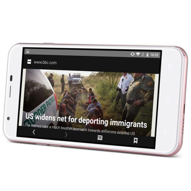 Auto-hightech Smartphone 5,5 pouces 3G, Android 6.0, quad-core et écran Hd -or rose