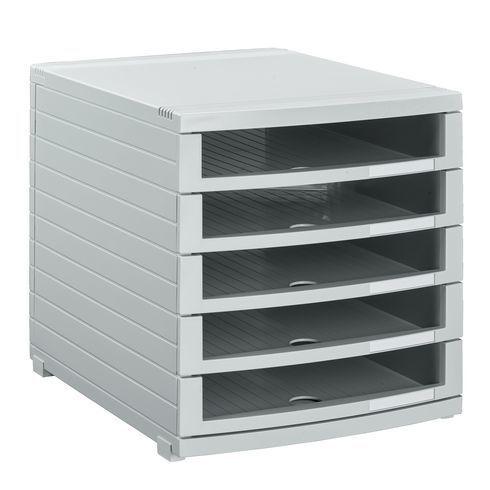 275e401751af5 Han - Module de classement Contur 5 tiroirs ouverts gris - pas cher Achat    Vente Boîtes d archives