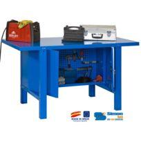 Simon Rack - Kit Etabli avec un verrou 830x1800x730mm Charge 800 Kg - Bt-6 Metal Locker 1800 Bleu