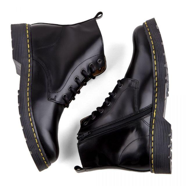 Boots cher cuir pas latéral Femme Orlando zip noires CQrxEdoWBe