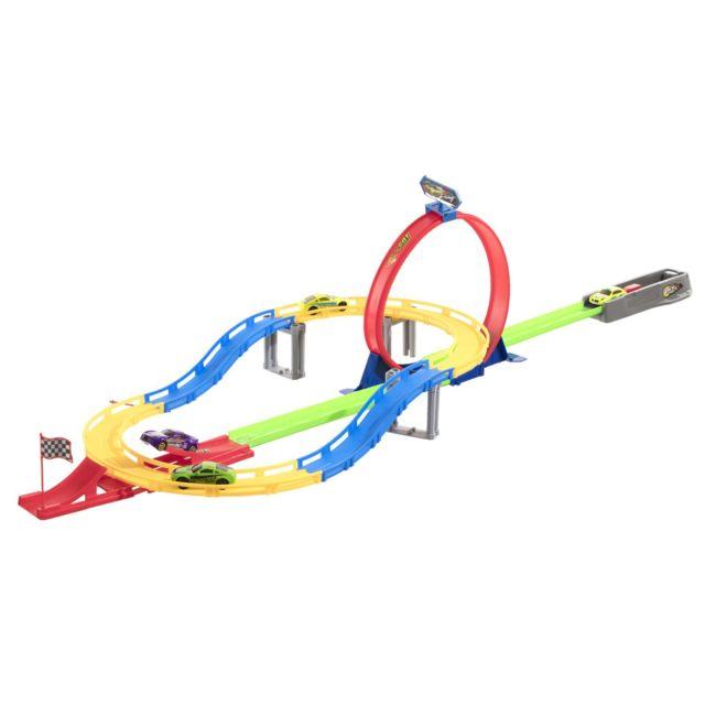Be Toys - Go Babies Circuit course avec 2 Loopings et 4 Voitures - Multicolore