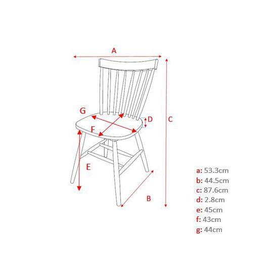 Kaligrafik - Chaise à barreaux vintage en bois - lot de 4 Olaf - Gris