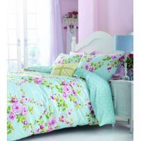 Catherine Lansfield - Home Parure housse de couette 2 personnes Canterbury avec motif floral multicolore 200 x 200cm