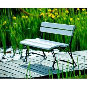 Garden banc de jardin blanc en bois et aluminium 150cm - Banc de jardin blanc ...