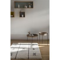 Art For Kids - Tapis Ethnic Shaggy beige rectangle chambre - Couleur - Beige, Taille - 120 / 170 cm
