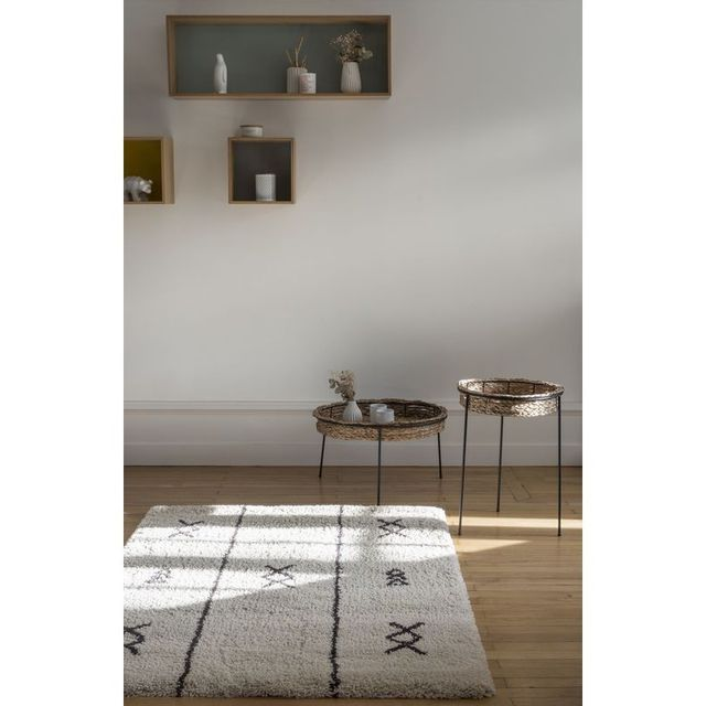 Art For Kids - Tapis Ethnic Shaggy beige rectangle chambre - Couleur ...
