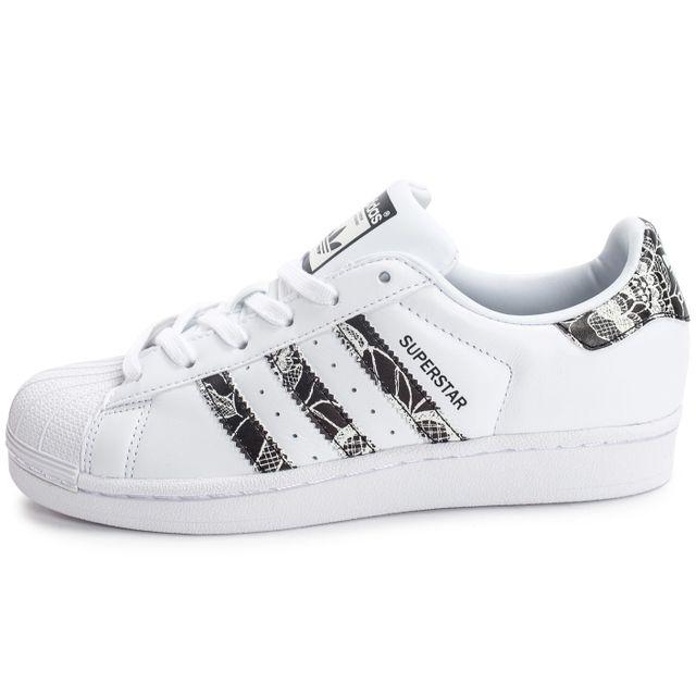 Adidas Superstar Ii Tache Blanche Serpent D'argent Femmes