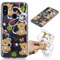 Marque Generique - Coque en Tpu motif ours bruns pour votre Xiaomi Mi A2 Lite/Redmi 6 Pro