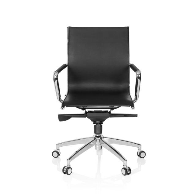 Hjh Office Fauteuil de bureau / fauteuil de direction Patmos simili cuir noir