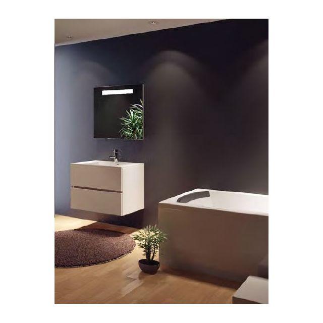 Riho Ensemble meuble & lavabo Cambio Comodo Set 07 en bois laqué brillant 80x46x H 57 cm