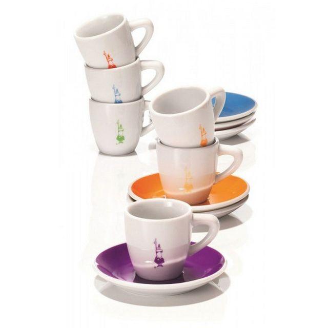 BIALETTI set de 6 tasses à café avec soucoupe - y0tz017
